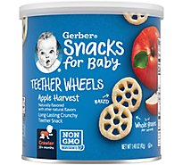Gerber Graduates Wagon Wheels Puffed Grains Apple Harvest - 1.48 Oz