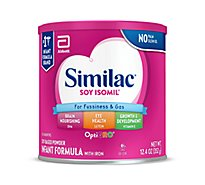 Similac Soy Isomil Infant Formula For Fussiness and Gas With Iron Powder - 12.4 Oz