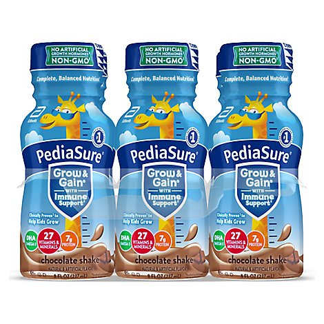 PediaSure Grow & Gain Kids Nutritional Shake Ready To Drink Chocolate - 6-8 Fl. Oz.