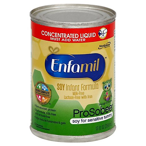 Enfamil ProSobee Infant Formula Soy Based Concentrated Liquid Can - 13 Fl. Oz.