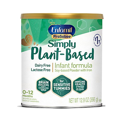 Enfamil ProSobee Infant Formula Soy Based Lactose Free Powder with Iron Can - 12.9 Oz