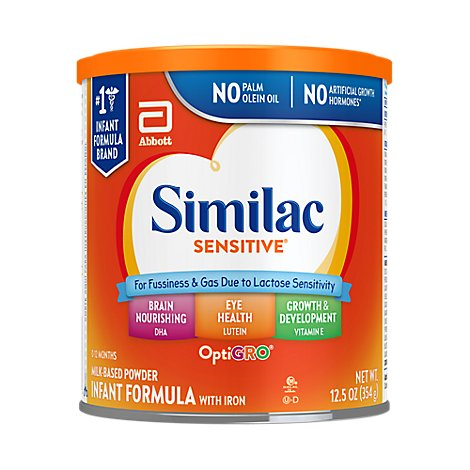 Similac Sensitive Infant Formula For Fussiness and Gas With Iron Powder - 12 Oz