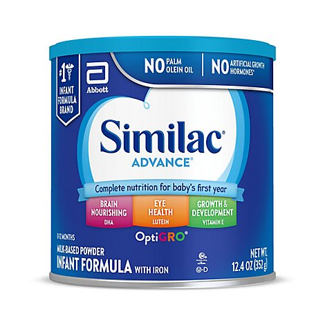 Similac Advance Infant Formula with Iron Powder - 12.4 oz