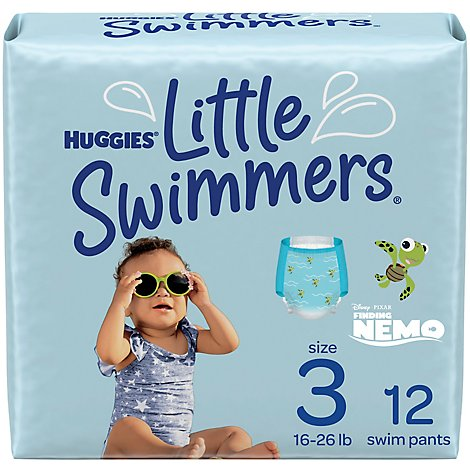 Huggies Little Swimmers Swim Diapers Disposable Small - 12 Count