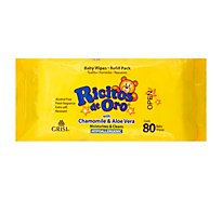 Grisi Ricitos De Oro Baby Wipes Refill Pack - 80 Count