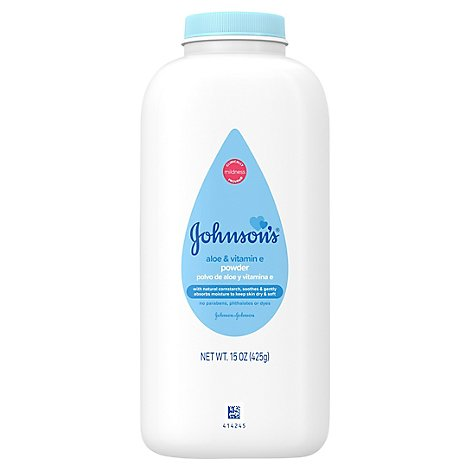 Johnsons Baby Powder Soothing Aloe & Vitamin E Pure Constarch - 15 Oz