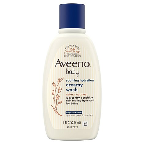 Aveeno Baby Creamy Wash Soothing Relief Fragrance Free - 8 Fl. Oz.