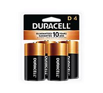 Duracell Battery Alkaline Duralock D - 4 Count