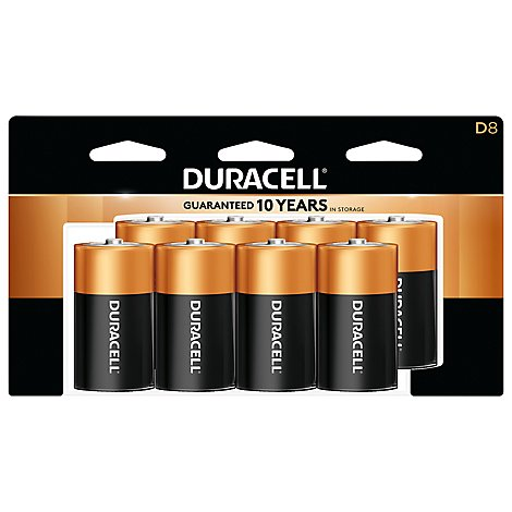 Duracell CopperTop D Alkaline Batteries - 8 count