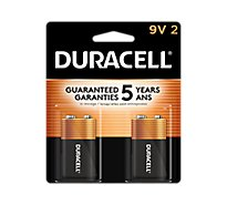 Duracell CopperTop 9V Alkaline Batteries  - 2 count
