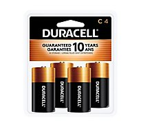 Duracell Coppertop Battery Alkaline Duralock C - 4 Count