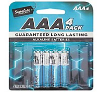 Signature SELECT Batteries Alkaline AAA Guaranteed Long Lasting - 4 Count