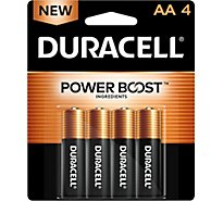Duracell Battery Alkaline Duralock AA - 4 Count