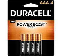 Duracell Battery Alkaline Duralock AAA - 4 Count