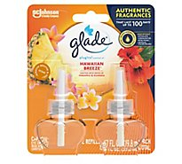 Glade PlugIns Scented Oil Refill Hawaiian Breeze Essential Oil Infused Plug In 1.34 oz 2 ct