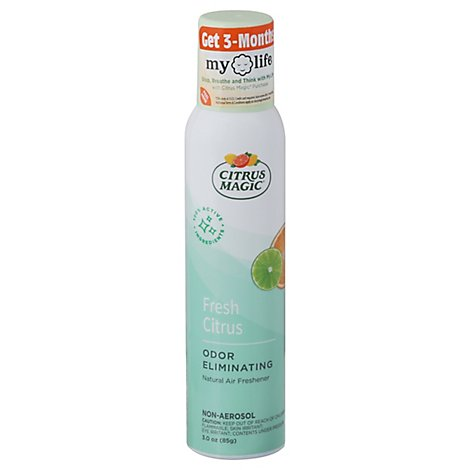 Citrus Magic Air Freshener Spray Natural Odor Eliminating Tropical Citrus Blend - 3 Oz