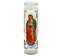 Bright Glow Candle Our Lady of Guadalupe - Each