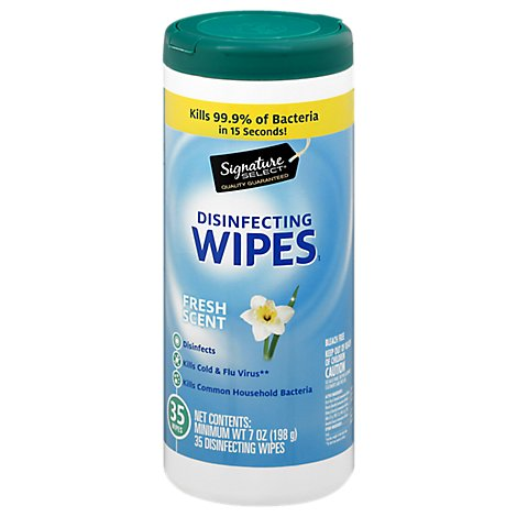 Signature SELECT/Home Disinfecting Wipes Fresh Scent - 35 Count