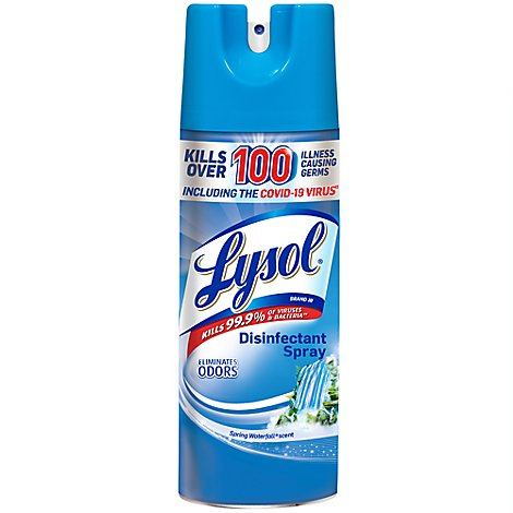 Lysol Disinfectant Spray Spring Waterfall Scent - 12.5 Oz