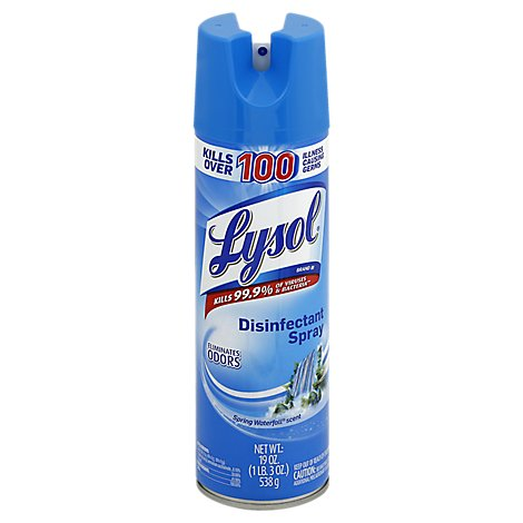 Lysol Disinfectant Spray Spring Waterfall Scent - 19 Oz