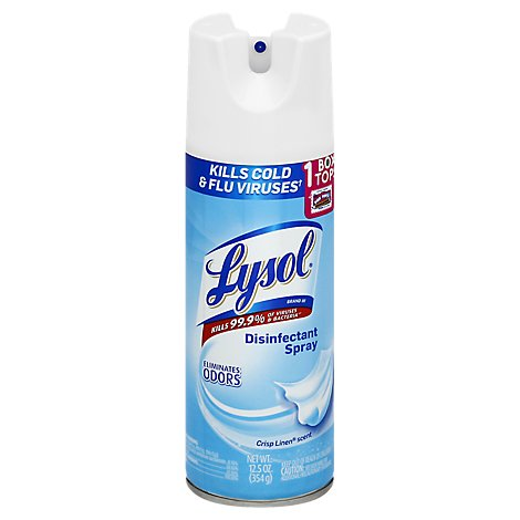 Lysol Disinfectant Spray Crisp Linen Scent - 12.5 Oz (limit 4)