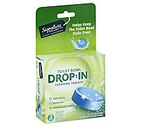 Signature SELECT Cleaner Toilet Bowl Drop In Tablet - 2 Count