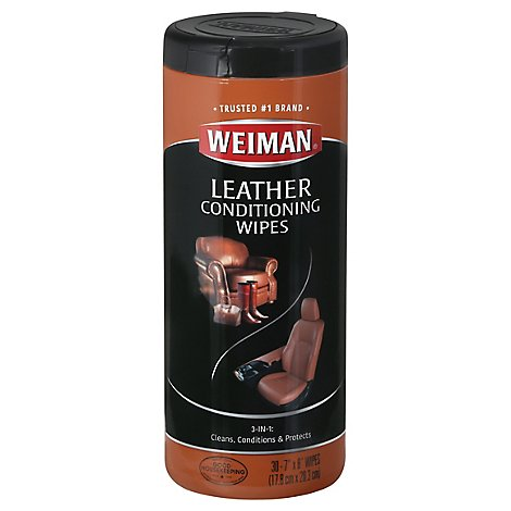 Weiman Wipes Leather - 30 Count