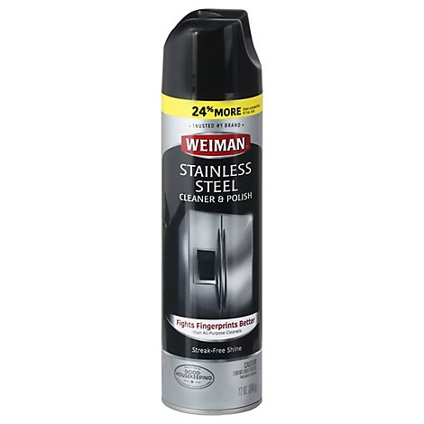 Weiman Cleaner & Polish Stainless Steel - 12 Oz