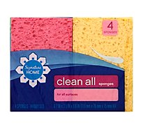 Signature SELECT Clean All Sponges For All Surfaces Handy Size - 4 Count