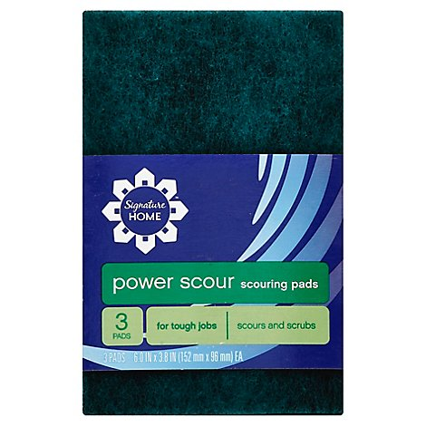Signature SELECT Power Scour Pads Scouring Tough Jobs - 3 Count