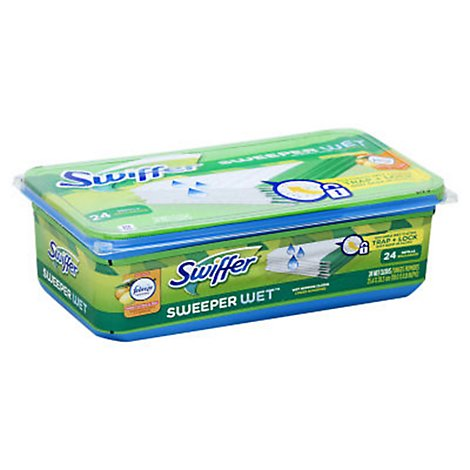 Swiffer Sweeper Wet Mopping Cloths Refills Sweet Citrus & Zest - 24 Count