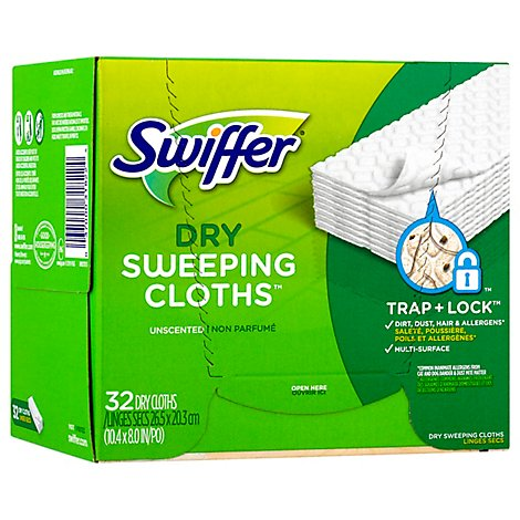 Swiffer Sweeper Dry Sweeping Cloths Refills Unscented - 32 Count