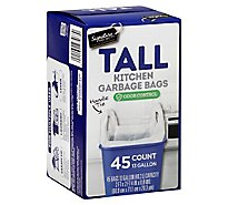 Signature SELECT/Home Garbage Bags Handle Tie Tall Kitchen Odor Control 13 Gallon - 45 Count