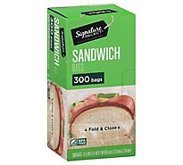 Signature SELECT Sandwich Bags Fold & Close BPA Free - 300 Count