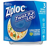 Ziploc Containers & Lids Twist n Loc Small Round 1 Pint - 3 Count