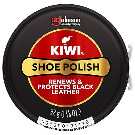 Kiwi Shoe Polish Black Paste - 1.12 Oz