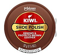 Kiwi Shoe Polish Brown Paste - 1.12 Oz