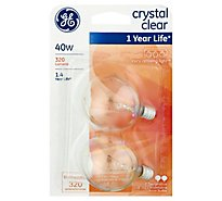 GE Light Bulbs Crystal Clear G16 Decorative 40 Watts - 2 Count