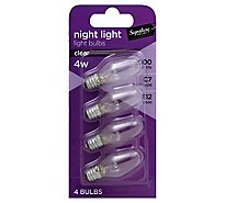 Signature SELECT Light Bulb Night Light Clear 4W C7 Type E12 Base - 4 Count