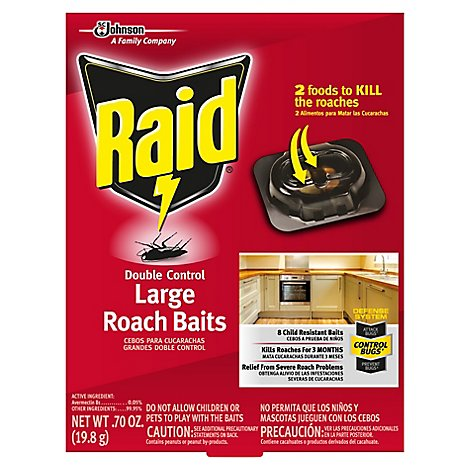 Raid Double Control Large Roach Baits (8 Ct)