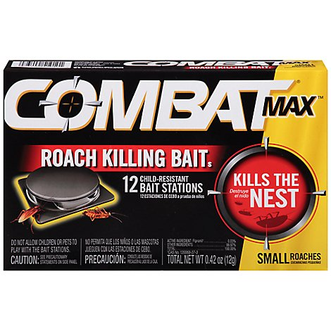 Combat Max Roack Killing Bait Station Small Roach - 12 Count