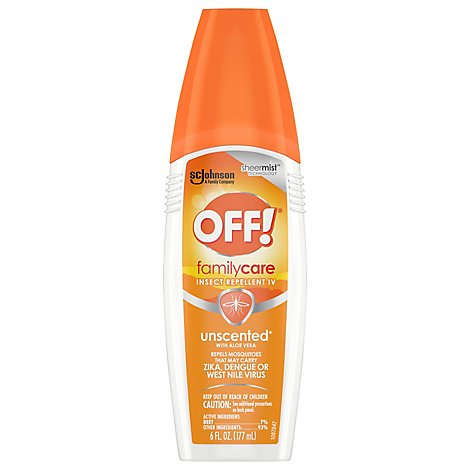 OFF! FamilyCare Insect Repellent IV Unscented 6 oz 1 ct