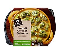Signature Cafe Side Dish Broccoli Cheddar Au Gratin - 12 Oz