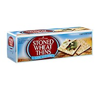 Red Oval Farms Stoned Wheat Thins Crackers Wheat Low Sodium - 10.6 Oz