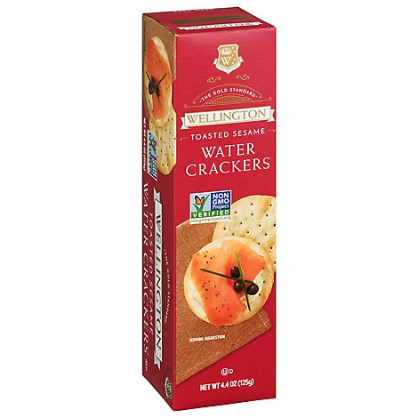 Wellington Water Crackers Toasted Sesame - 4.4 Oz