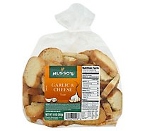 Mussos Toast Garlic & Cheese - 12 Oz