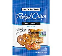 Snack Factory Pretzel Crisps Pretzel Crackers Thin Crunchy Deli Style Original - 7.2 Oz