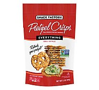 Snack Factory Pretzel Crisps Pretzel Crackers Thin Crunchy Deli Style Everything - 7.2 Oz