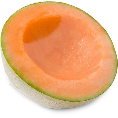 Fresh Cut Melon Cantaloupe Half Cut Wrapped - 16 Oz