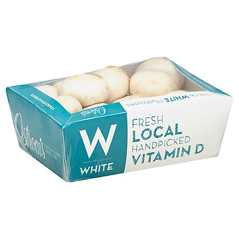 Mushrooms White Whole Prepacked - 16 Oz